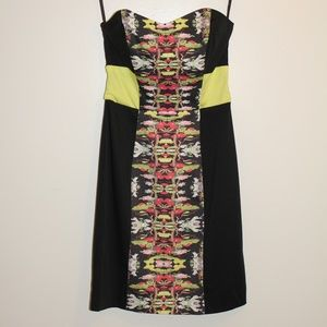 French Connection Strapless Print Dress